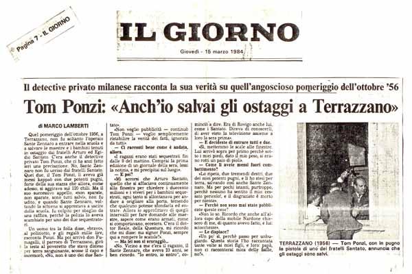 Terrazzano: La versione di Tom Ponzi