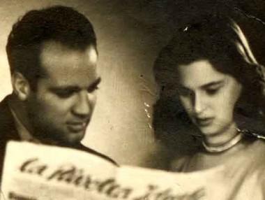 Tom Ponzi con Lucia Bosè, grande attrice degli anni '50 e madre del cantante Miguel Bosè.
