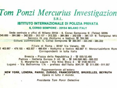 Brochure Mercurius - Tom Ponzi