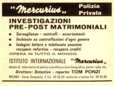 Pubblicità Mercurius - Tom Ponzi